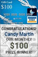 Candy Martin $100 Winner