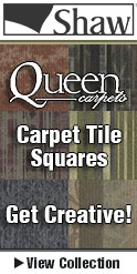 carpet tiles by Shaw on sale