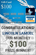 ACWG 100 dollar gift card winner Lincoln Samuel