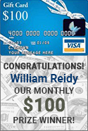 ACWG 100 dollar gift card winner William Reidy