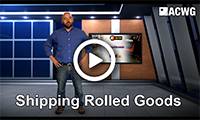 American Carpet Wholesalers Shipping Rolled Goods Video