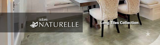 Adore Naturelle long Tiles Collection luxury vinyl flooring on sale at American Carpet Wholesale