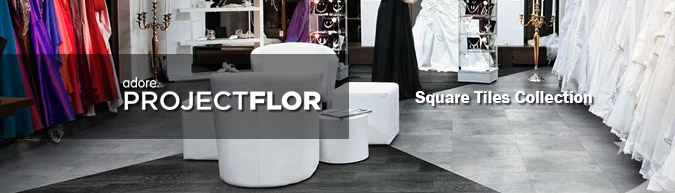 Adore Project flor Square Tile Collection luxury vinyl flooring on sale at American Carpet Wholesale