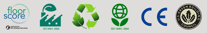 Adore floorscore recyclable iso-14001 CE us green building council