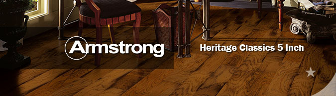 Armstrong Heritage Classics 5-Inch Engineered Hardwood flooring collection on sale at American Carpet Wholesale with huge savings!