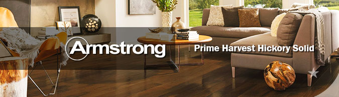 Armstrong hardwood flooring Prime Harvest Hickory Solid hardwood collection on sale at American Carpet Wholesale with huge savings!