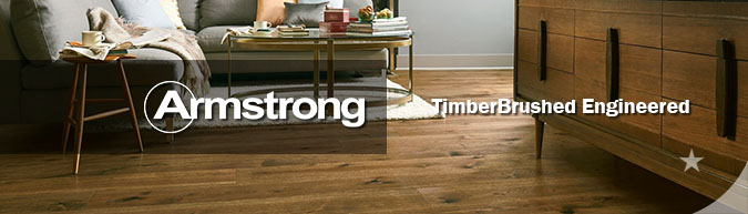 Armstrong TimberBrushed Engineered hardwood collection flooring on sale at American Carpet Wholesale with huge savings!