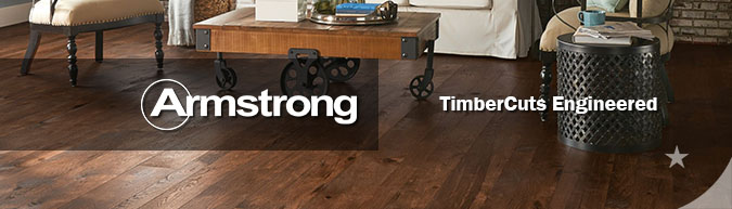 Armstrong TimberCuts Engineered hardwood collection flooring on sale at American Carpet Wholesale with huge savings!