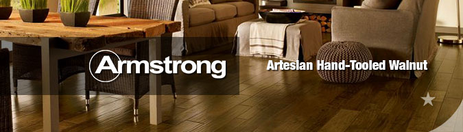 Armstrong hardwood flooring artesian hand-tooled walnut collection on sale at American Carpet Wholesale with huge savings!