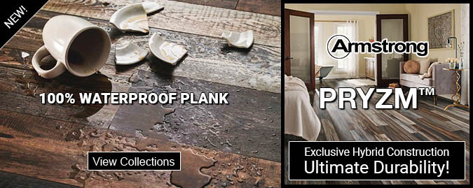 Armstrong pryzm - exclusive hybrid construction - ultimate durability - waterproof luxury flooring
