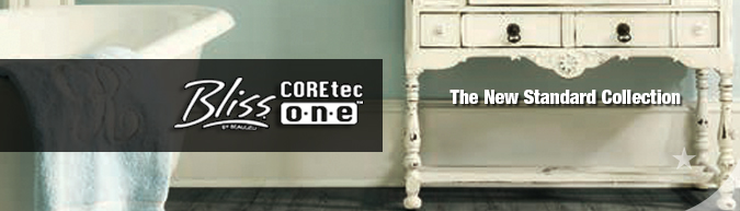 Bliss coretec one waterproof WPC flooring
