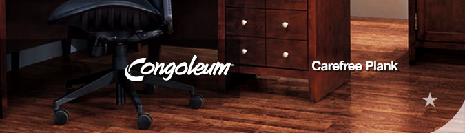 Congoleum carefree plank luxury vinyl flooring at American Carpet Wholesale with huge savings! Save 30 to 60%