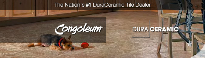 Congoleum duraceramic luxury floor tiles on sale at american carpet wholesalers