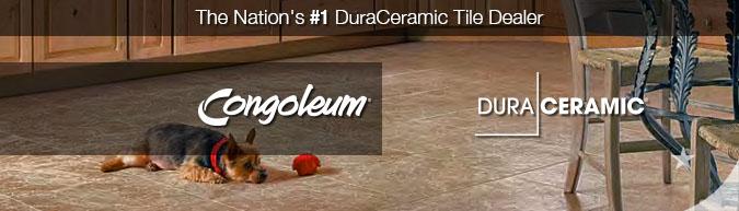 Congoleum DuraCeramic Tile Floors - Save 30-60% DuraCeramic