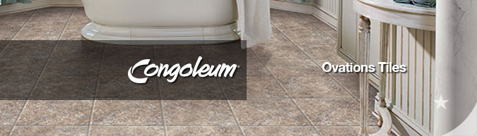 Congoleum Ovations luxury vinyl Tile flooring collection on sale at American Carpet Wholesale with huge savings! Save 30 to 60%