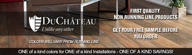 DuChateau hardwood flooring special purchase