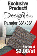 IN-STOCK SPECIAL DESIGNTEK CARPET TILE SQUARES PARADOR EXCLUSIVE PRODUCT 36X36