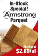 Armstrong Parquet Flooring by Hartco. In Stock and Ready to Ship with Great Prices!