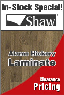 In stock Laminate special shaw alamo hickory