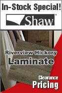 In stock Laminate special shaw riverview hickory