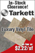 In-Stock Clearance Flooring Tarkett Luxury Vinyl Tile as low as $2.22 per sf.