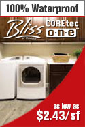 In stock special bliss coretec one wpc waterproof flooring