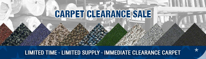 In-stock special carpet clearance overrun close out sale