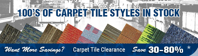 carpet tile, overruns, excess, inventory, close-outs, clearance items, in-stock specials, discontinued items, limited time, limited supply, flooring sale
