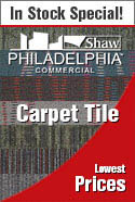 In stock special carpet-tile philadelphia by shaw