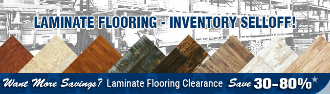 In-stock special laminate flooring inventory sell off - close out-sale clearance items, discontinued items, limited time, limited supply, flooring sale