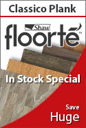 In stock special shaw floorte classico plank wpc waterproof flooring