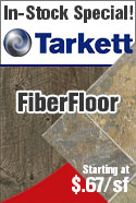 In-stock special tarkett fiberfloor vinyl flooring
