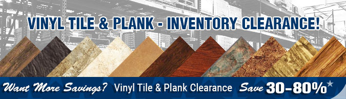 In-stock special Vinyl Plank & Vinyl  Tile inventory sell off - close out-sale clearance items, discontinued items, limited time, limited supply, flooring sale
