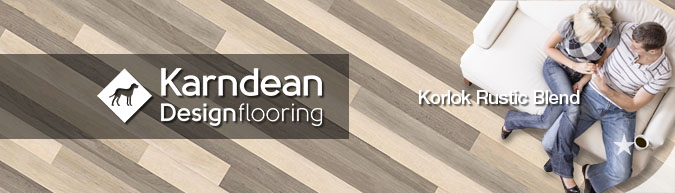 Karndean Korloc Rustic Blend design flooring reclaimed salvage look scandinavian