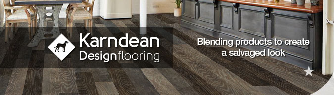 Karndean design flooring reclaimed salvage look blend