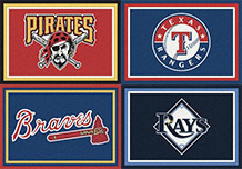 MLB TEAM SPORTS AREA RUGS FREE SHIPPING OFFICIALLY LICENSED