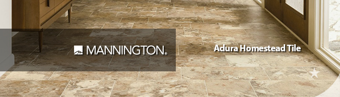 Mannington Adura homestead tile flooring on sale at American Carpet Wholesale with huge savings! Save 30 to 60%