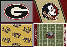 NCAA TEAM SPORTS AREA RUGS FREE SHIPPING OFFICIALLY LICENSED