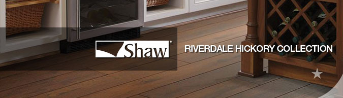 Shaw Riverdale hickory collection laminate flooring on sale at American Carpet Wholesale with huge savings!