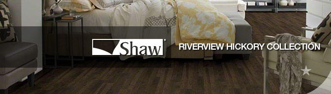 Shaw Riverview hickory collection laminate flooring on sale at American Carpet Wholesale with huge savings!