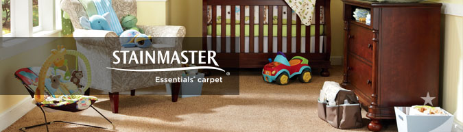 Stainmaster Essentials collection stain resistant carpet at savings from 30 to 60%