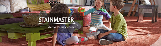 Stainmaster Active Family collection stain resistant carpet at savings from 30 to 60%