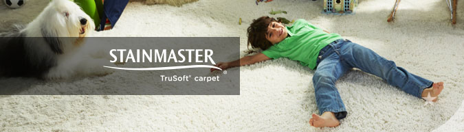 Stainmaster Trusoft collection stain resistant carpet at savings from 30 to 60%