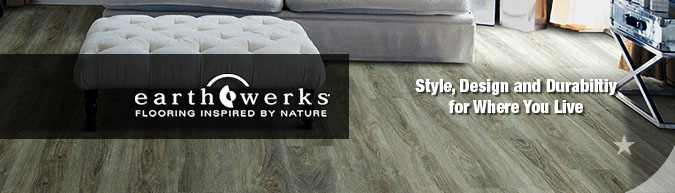 Earthwerks Waterproof Plank Flooring on sale at American Carpet Wholesale with huge savings! Save 30 to 60%