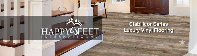 happy feet international Stabilicor Series luxury vinyl flooring collection sale