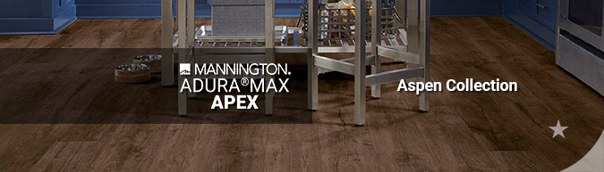 mannington adura max apex Aspen waterproof LVT multilayer flooring