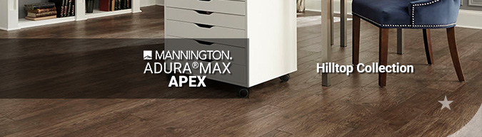mannington adura max apex hilltop waterproof LVT multilayer flooring