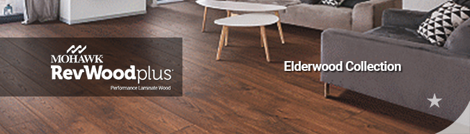 mohawk revwood plus waterproof performance laminate wood flooring Elderwood collection on sale