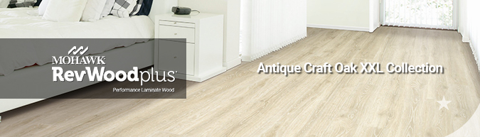mohawk revwood plus waterproof performance laminate wood flooring antique craft oak xxl collection on sale