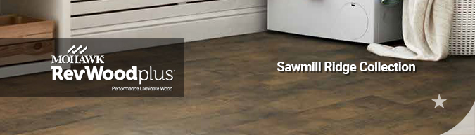 mohawk revwood plus waterproof performance laminate wood flooring sawmill ridge collection on sale